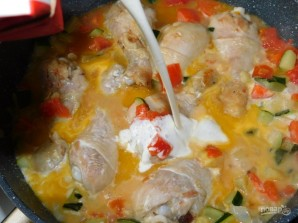 Куриная сковорода с кабачками - фото шаг 5