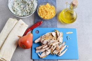 Закуска из лаваша с курицей - фото шаг 4