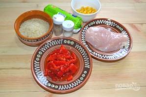 Салат с консервированным перцем - фото шаг 1