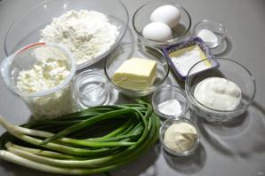 Пирог с зеленым луком и творогом - фото шаг 1