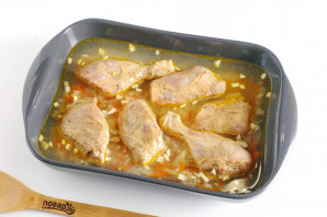 Курица с рисом в духовке - фото шаг 7