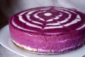 Черничный торт без выпечки - фото шаг 6
