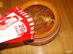 Гречка с мясом в горшочке - фото шаг 9