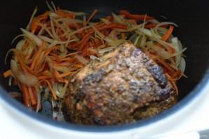 Свинина, запеченная в мультиварке, с легким овощным гарниром - фото шаг 3
