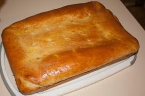 Пирог с капустой и рыбной консервой - фото шаг 15