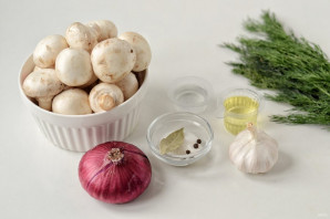 Маринованные грибы с луком - фото шаг 1