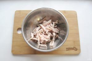 "Мясной салат ""Крыска"" - фото шаг 6"