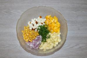 Салат с яблоком и болгарским перцем - фото шаг 4