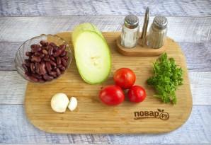 Фасоль с помидорами и цуккини - фото шаг 1