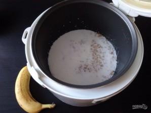 Овсяная каша в мультиварке с бананом - фото шаг 3