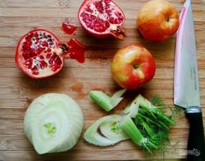 Салат из пшеницы с яблоком - фото шаг 1