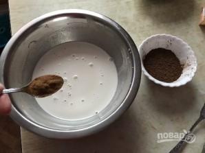 Шоколадный пирог с манно-грушевым муссом - фото шаг 5