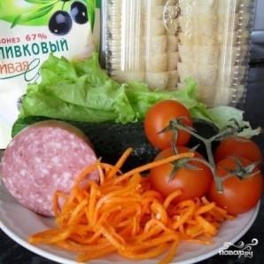 Тарталетки с корейской морковью - фото шаг 1