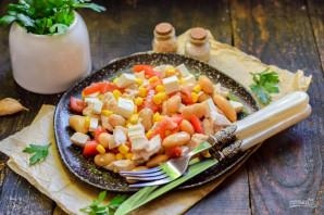 Салат с фасолью и брынзой - фото шаг 8