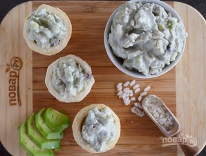 Паштетный салат из авокадо и риса - фото шаг 6