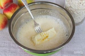 Овсяный пирог с персиками - фото шаг 3