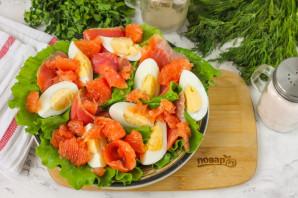 Салат с красной рыбой и грейпфрутом - фото шаг 5