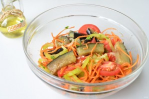 Салат с баклажанами и морковью по-корейски - фото шаг 5