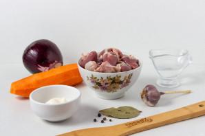 Салат с куриными потрошками - фото шаг 1