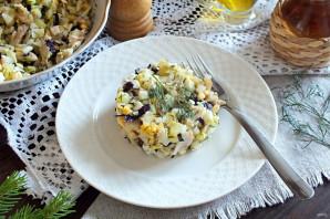 Салат из морского окуня горячего копчения - фото шаг 7