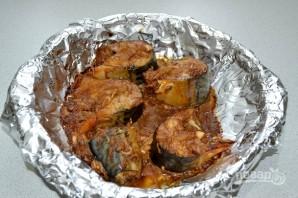 Скумбрия, запеченная в горчично-соевом соусе - фото шаг 11