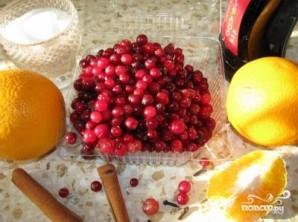 Клюква с апельсином - фото шаг 1