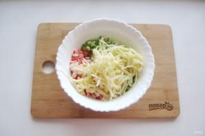 Крабовый салат без яиц - фото шаг 5