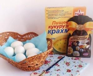 Яйца, крашенные в технике декупаж - фото шаг 1