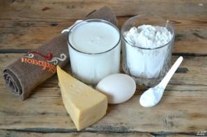 Бездрожжевое тесто с сыром - фото шаг 1
