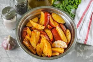 Золотистая картошка в духовке - фото шаг 4