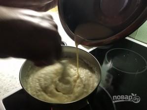 Шоколадный пирог с манно-грушевым муссом - фото шаг 13