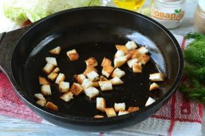 Салат с капустой, ветчиной и сухариками - фото шаг 3