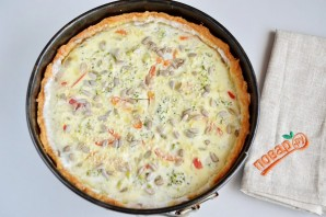 Пирог с творогом и брокколи - фото шаг 8