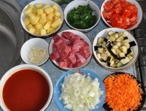 Баранина с овощами в горшочках - фото шаг 1