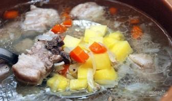 Щавелевый суп с мясом и яйцом - фото шаг 4