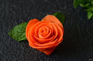 Розы из моркови - фото шаг 7