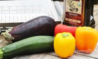 Овощи на гриле для салата - фото шаг 1