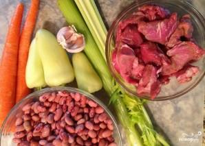 Красная фасоль с мясом - фото шаг 1