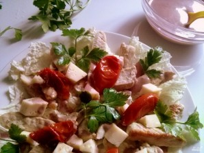 Салат из индейки с вялеными помидорами - фото шаг 5