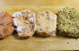 Мясо в панировке в духовке - фото шаг 5