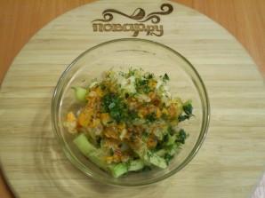 Салат из цветной капусты с зеленой фасолью - фото шаг 6