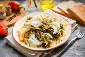 Салат с фунчозой и морской капустой - фото шаг 8
