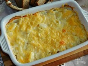 Картофельная запеканка с луком в сливках - фото шаг 5