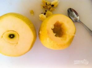 Тыквенное пюре в яблоке - фото шаг 1