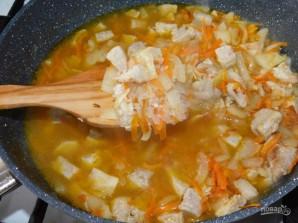 Мясная сковорода с рисом и кабачками - фото шаг 3