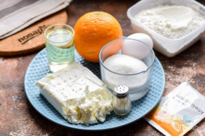 Творожное печенье с апельсином - фото шаг 1