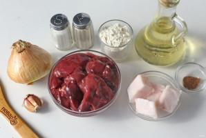 Котлеты из печени с салом - фото шаг 1
