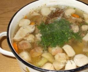Грибной суп с мясом - фото шаг 6