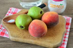 Компот из груш и персиков на зиму