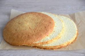 """Торт """"Птичье молоко"""" с малиной - фото шаг 7"""